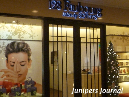 128faubourg salon by sothys facial