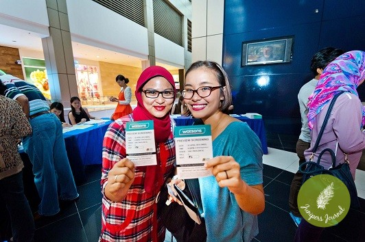 Happy Watsons VIP customers with their Marvel Avengers age of Ultron Ticket