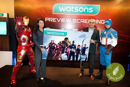Launching of Watsons Limited Card with Avengers Sticker
