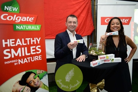 Peter Torrington and Esi Seng introducing the all new product by Colgate, Colgate Naturals into the Malaysian market