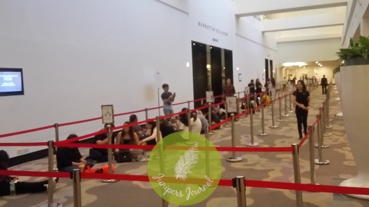 At 7.05am there was hardly a queue compared to previous years