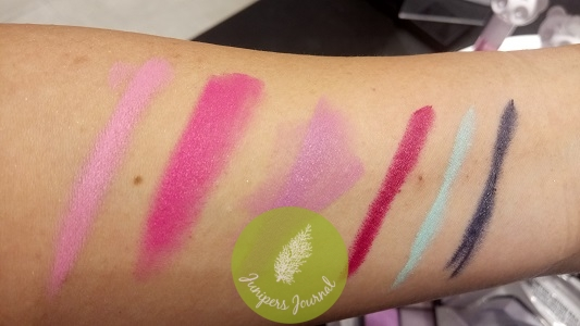 Swatches of above lipsticks