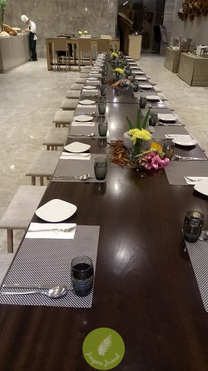 The nicely decorated long table @ Relish is perfect for big groups