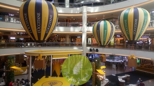 Hot air balloons above Mid Valley Centre Court