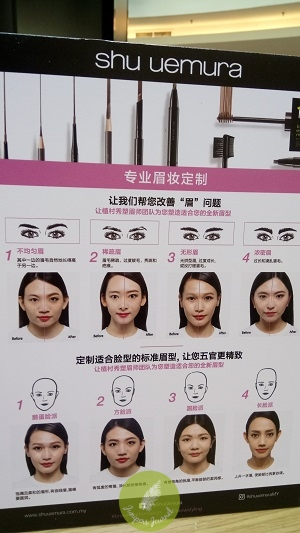Different brow shapes for different face shapes