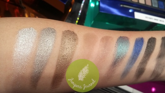 Smoky Eye Palette swatches