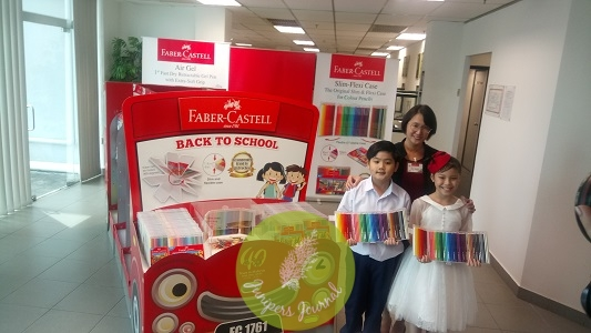 Ms. Ivy Leong, Faber-Castell Marketing Manager launches the Back-To-School Bus