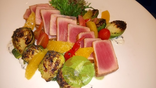 Seared Tuna, Marinated Brussel Sprouts And Orange Segments