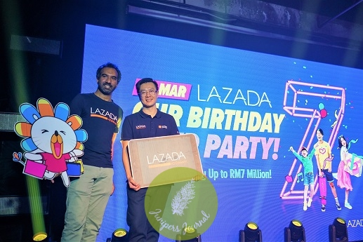 Lazada's 7th Birthday celebration begins from 21 to 27 March with amazing deals and over 24 million discounted products to be added to cart