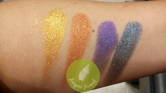 Gold Metalist, Cop-A-Pose, Vio-Lit, Lunar Metal swatches
