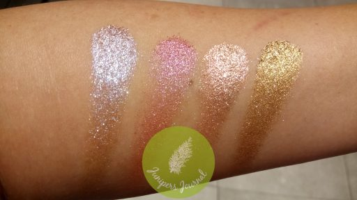 Joy To, Glitz Please, P For Pink, Put U On Gold swatches