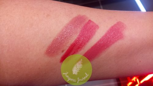 3 swatches with 04 French Kiss on far right