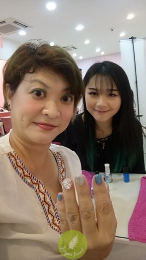 With my manicurist at Enchanted Siblings