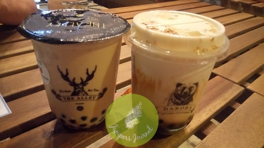 The Alley and Daboba signature bubble teas