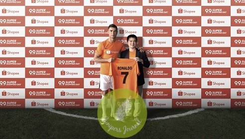 (Left to Right) Cristiano Ronaldo Global Football Icon, with Chris Feng, Chief Executive Officer, Shopee