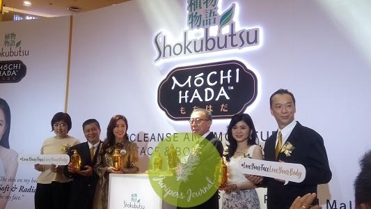 Shokubutsu Mochi Hada launch was attended by the Brand Ambassador, Hong Kong actress Natalie Tong