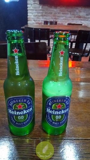 We're served Heineken 00 before the presentation