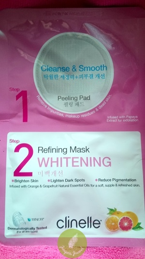 Clinelle 2-Step Peeling Pad Whitening Refining Mask