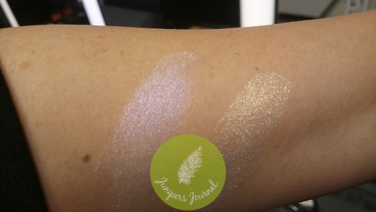 Extra Dimension Skinfinish/Cold Comfort & Sky's The Limit swatches