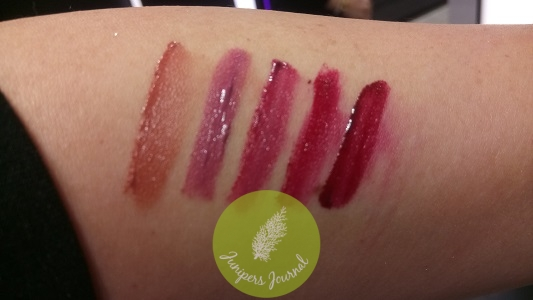 One-Hit Sharp Cookie (warm nude), Beck And Call (bright cool mid tone pink), Love Is Blind (bright cool fuchsia), Off The Record (deep wine red), Stone's Throw (deep burgundy red)
