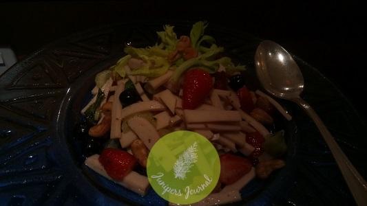 Festive Turkey Salad With Celery, Berries & Cashew Nuts