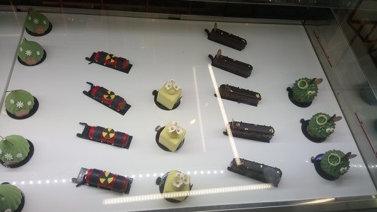 A selection of FROZEN's regular Petit Gateaux - Mosqow, Dynamite (limited edition), Parfum, Chocolate Grandeur, The King