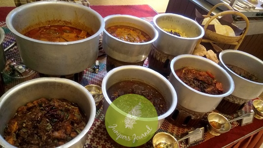 A variety of curries to go with rice