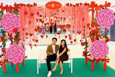 Sweet Valentine Booth at Da Men Mall