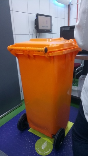 Big food waste bin 120L capacity