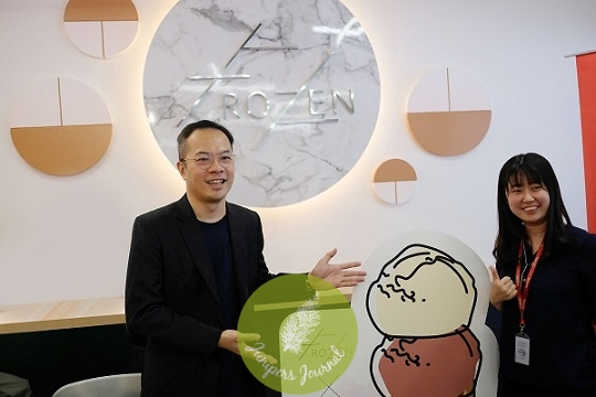 William Ng (left), founder of FROZEN with Kee Joo Lee, senior science and PR leader of Yakult Malaysia