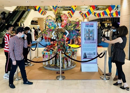The iconic Miss Malaysia 2019 costume displayed at the Main Entrance, Intermark Mall