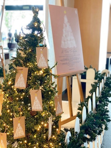 A Time To Give Christmas Tree at G Hotel's Lobby