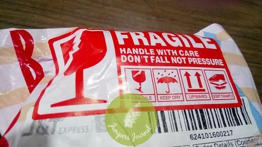 """Seller stuck big """"Fragile"""" sticker on parcel"""