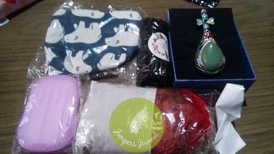 Seller included some free gifts in a pouch