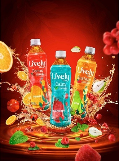 The LIVELY™ Tea range includes three exciting variants such as LIVELY™ Orange Guarana Tea, LIVELY™ Raspberry Lemon Balm Tea and LIVELY™ Pear Schisandra Tea
