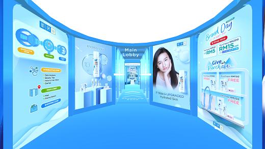 Hada Labo Virtual Event Main Lobby